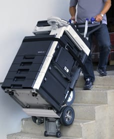Powered stairclimber lifting 330kg photocopier